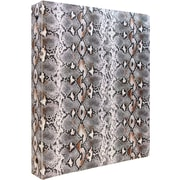 JAM Paper® Animal Print 3 Ring Binder, 1 inch, Snakeskin, Sold Individually (373932758)