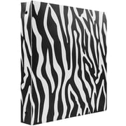 JAM Paper® Animal Print 3 Ring Binder, 1 inch, Zebra, Sold Individually (373932760)