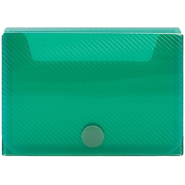 JAM Paper® Large Business Card Holder, 2.25 x 3.25 x 1, Green