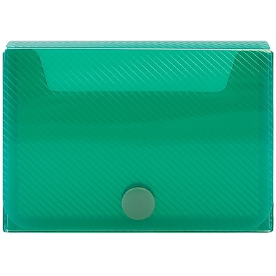 JAM Paper® Large Business Card Holder, 2.25 x 3.25 x 1, Green, Sold Individually (245232762)