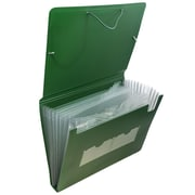 JAM Paper® Accordion Folders, Plastic 13 Pocket Expanding File, Letter Size, 9 x 13, Green, Sold Individually (340332849)
