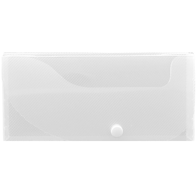 JAM Paper® Pencil Cases, Snap Button Closure, Clear, Sold Individually (166532739)