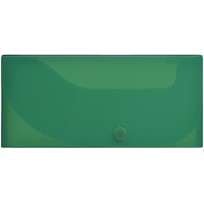 JAM Paper® Pencil Cases, Snap Button Closure, Dark Green, Sold Individually (166532741)