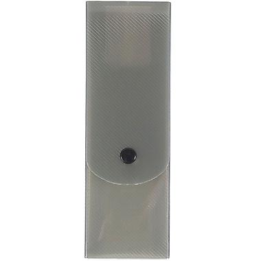 JAM Paper® Pencil Cases, Slim Pencil Case, Smoke