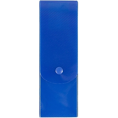 JAM Paper – Étuis à crayons minces, fumée, bleu (166532852)