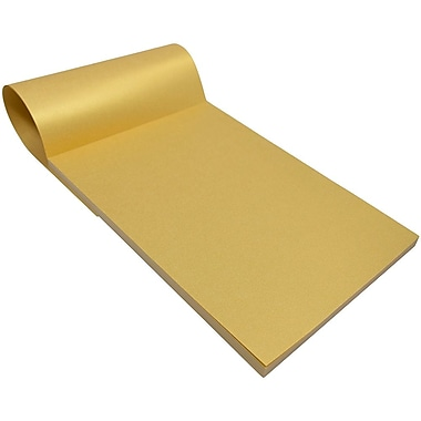JAM Paper® Paper Pads, 6 x 9, Gold Metallic, 150 Sheets/Pack