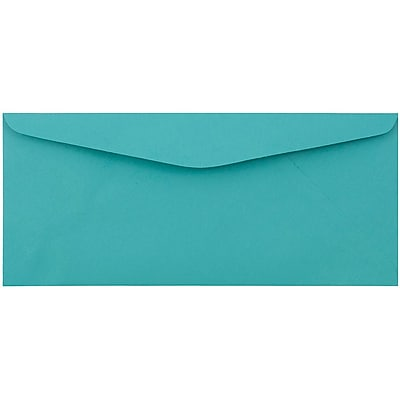 JAM Paper® #9 Envelopes, 3 7/8 x 8 7/8, Sea Blue Recycled, 1000/carton (1532901b)