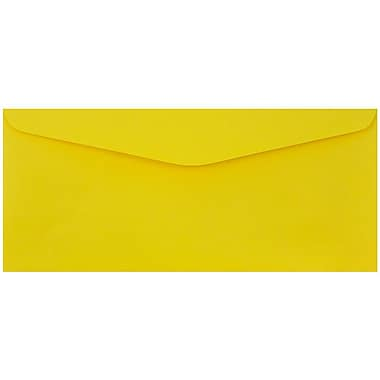 JAM Paper® #9 Envelopes, 3 7/8 x 8 7/8, Yellow Recycled, 1000/Pack