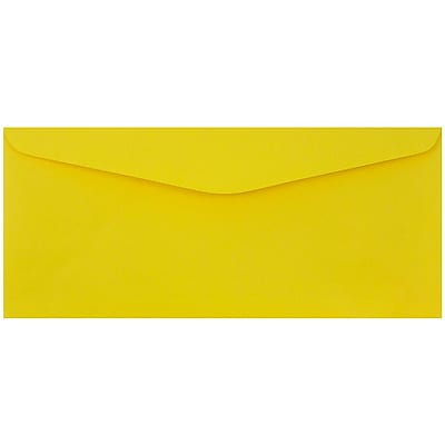 JAM Paper® #9 Envelopes, 3 7/8 x 8 7/8, Yellow Recycled, 25/pack (1532902)