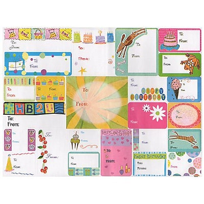 JAM Paper® To/From Stickers, All Occasion, 2 sheets / 48 stickers total (2209916345)