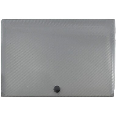 JAM Paper® Plastic Index Card Case, 6 1/8 x 3 3/4 x 1, Smoke, Sold Individually (374032786)