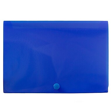 JAM Paper® Plastic Index Card Case, 6 1/8 x 3 3/4 x 1, Blue, Sold Individually (374032782)