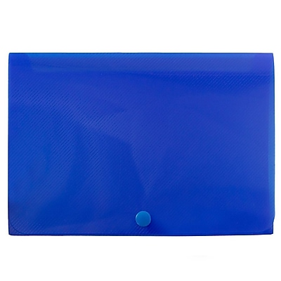 JAM Paper® Plastic Index Card Case, 8 3/8 x 5 3/4 x 1 3/8, Blue, Sold Individually (374032787)