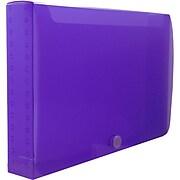 JAM Paper® Plastic Index Card Case, 8 3/8 x 5 3/4 x 1 3/8, Purple, Sold Individually (374032789)