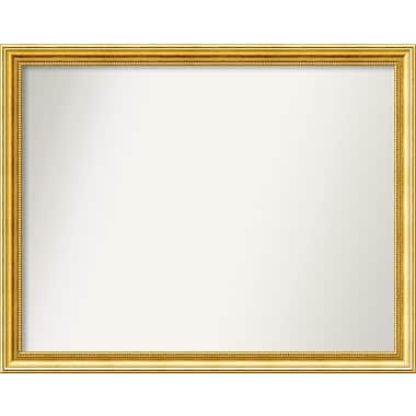 Astoria Grand Accent Wall Mounted Gold Mirror; 30.38'' H x 38.38'' W x 1.25'' D
