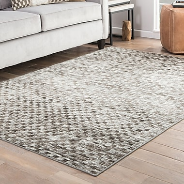 Ebern Designs Sienna Brown/Gray Area Rug; 2' x 3'
