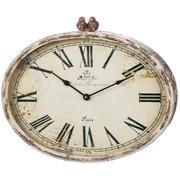 One Allium Way Roman Numeral Distressed 20'' Wall Clock