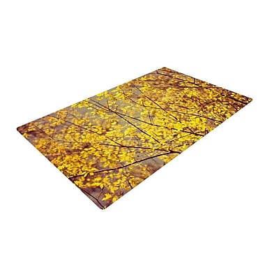 East Urban Home Ingrid Beddoes Autumn Yellow Area Rug; 2' x 3'