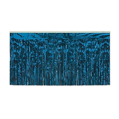 The Holiday Aisle General Occasion Rectangular Plastic Tablecloth; Blue