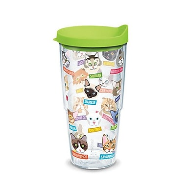 Tervis Tumbler Cat Breeds 24 oz. Insulated Tumbler