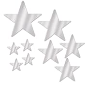 The Holiday Aisle General Occasion 9 Piece Foil Star Wall Decor Set; Silver