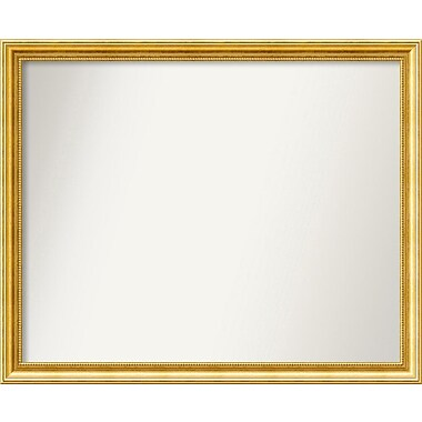 Astoria Grand Accent Wall Mounted Gold Mirror; 31.38'' H x 38.38'' W x 1.25'' D