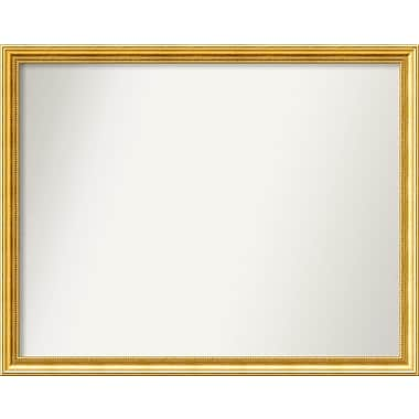 Astoria Grand Accent Wall Mounted Gold Mirror; 34.38'' H x 43.38'' W x 1.25'' D