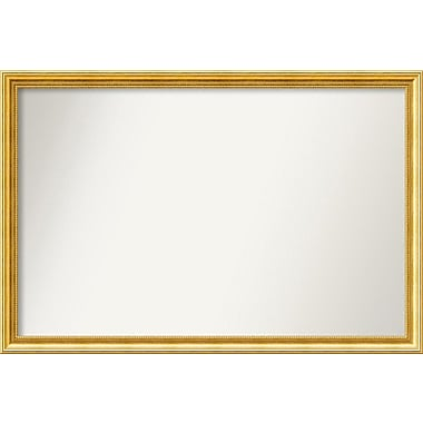 Astoria Grand Accent Wall Mounted Gold Mirror; 32.38'' H x 48.38'' W x 1.25'' D