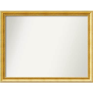 Astoria Grand Accent Wall Mounted Gold Mirror; 27.38'' H x 35.38'' W x 1.25'' D