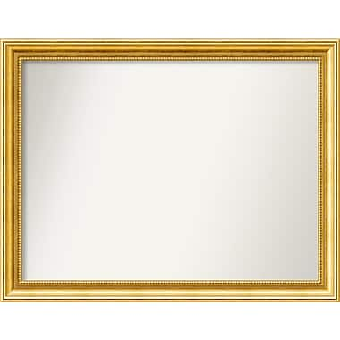 Astoria Grand Accent Wall Mounted Gold Mirror; 24.38'' H x 31.38'' W x 1.25'' D