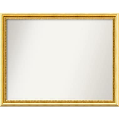 Astoria Grand Accent Wall Mounted Gold Mirror; 29.38'' H x 37.38'' W x 1.25'' D