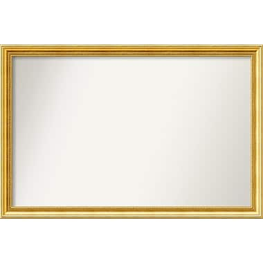 Astoria Grand Accent Wall Mounted Gold Mirror; 29.38'' H x 44.38'' W x 1.25'' D
