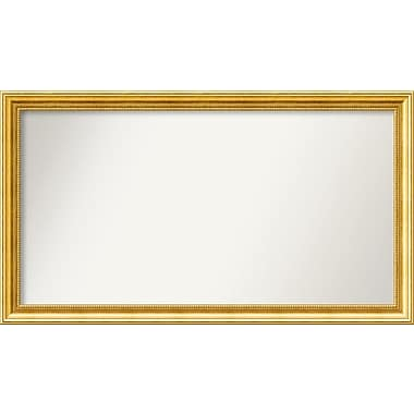 Astoria Grand Accent Wall Mounted Gold Mirror; 23.38'' H x 41.38'' W x 1.25'' D