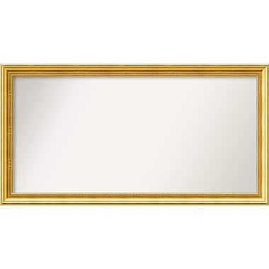 Astoria Grand Accent Wall Mounted Gold Mirror; 23.38'' H x 44.38'' W x 1.25'' D