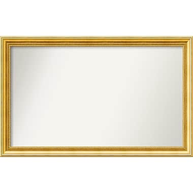 Astoria Grand Accent Wall Mounted Gold Mirror; 23.38'' H x 37.38'' W x 1.25'' D