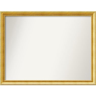 Astoria Grand Accent Wall Mounted Gold Mirror; 30.38'' H x 39.38'' W x 1.25'' D