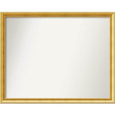 Astoria Grand Accent Wall Mounted Gold Mirror; 35.38'' H x 44.38'' W x 1.25'' D