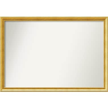 Astoria Grand Accent Wall Mounted Gold Mirror; 34.38'' H x 49.38'' W x 1.25'' D