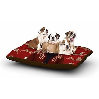 East Urban Home Natt 'Family Portrait N1' Fox Dog Pillow w/ Fleece Cozy Top