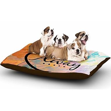East Urban Home Ebi Emporium 'Up Up & Away' Typography Dog Pillow w/ Fleece Cozy Top