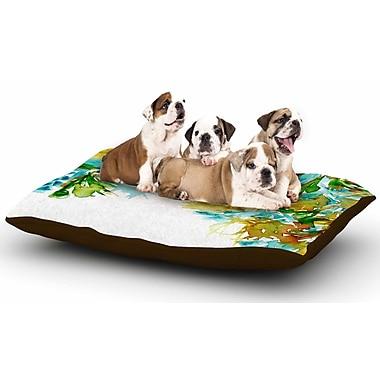 East Urban Home Ebi Emporium 'Floral Cascade 9' Dog Pillow w/ Fleece Cozy Top