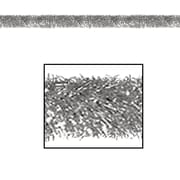 The Holiday Aisle General Occasion Tinsel Garland; Silver