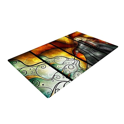 East Urban Home Mandie Manzano Expecto Patronum Harry Potter Yellow/Gray Area Rug; 2'' x 3''