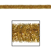 The Holiday Aisle General Occasion Tinsel Garland; Gold