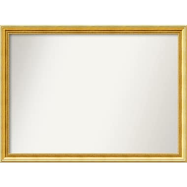 Astoria Grand Accent Wall Mounted Gold Mirror; 30.38'' H x 41.38'' W x 1.25'' D