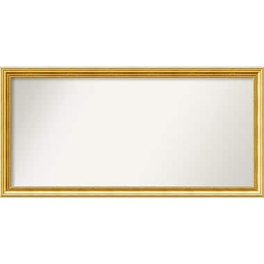 Astoria Grand Accent Wall Mounted Gold Mirror; 24.38'' H x 49.38'' W x 1.25'' D