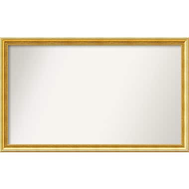 Astoria Grand Accent Wall Mounted Gold Mirror; 29.38'' H x 48.38'' W x 1.25'' D