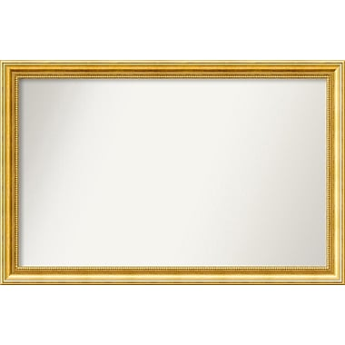 Astoria Grand Accent Wall Mounted Gold Mirror; 24.38'' H x 37.38'' W x 1.25'' D
