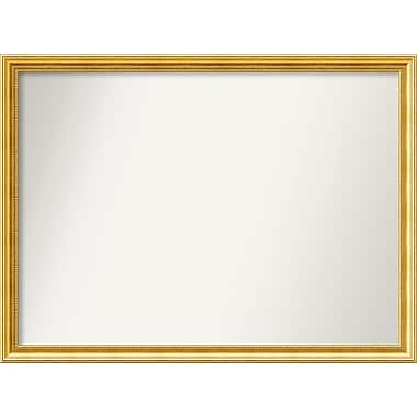 Astoria Grand Accent Wall Mounted Gold Mirror; 34.38'' H x 46.38'' W x 1.25'' D