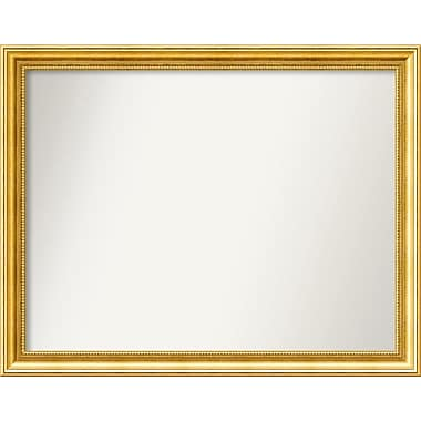Astoria Grand Accent Wall Mounted Gold Mirror; 26.38'' H x 33.38'' W x 1.25'' D